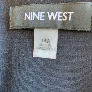 Nine West black long vest